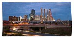 Kansas City Skyline Bath Towel