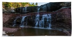Hand Towel featuring the photograph Kansas Waterfall by Jay Stockhaus