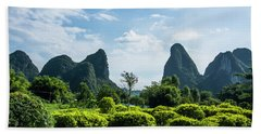 Karst Mountains Scenery Bath Towel