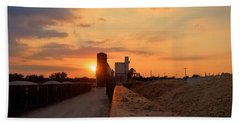Katy Texas Sunset Bath Towel