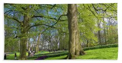 Bath Towel featuring the photograph Keukenhof Gardens In Lisse, Netherlands by Hans Engbers
