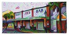 Key West Florida Sloppy Joes Bar Bath Towel by Bill Cannon