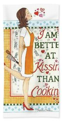 Kissing Cooking Hand Towel