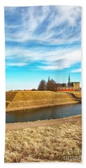 Bath Towel featuring the photograph Kronborg Castle In Helsingor by Antony McAulay