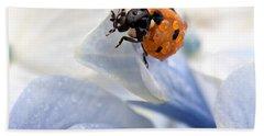 Ladybug Hand Towel by Nailia Schwarz