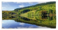 Lake Geirionydd Hand Towel by Ian Mitchell
