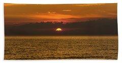 Lake Michigan Sunset  Bath Towel