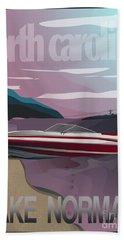 Lake Norman Poster  Bath Towel