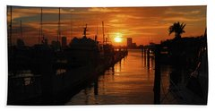Bath Towel featuring the photograph 1- Lake Park Marina by Joseph Keane