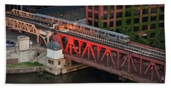 Lake Street Crossing Chicago River Hand Towel