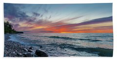 Lake Superior Sunset Bath Towel