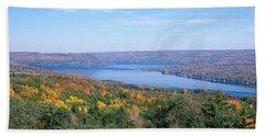 Lake Surrounded By Hills, Keuka Lake Hand Towel