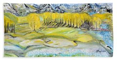Bath Towel featuring the painting Landscape by Evelina Popilian