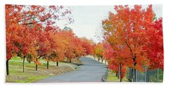 Hand Towel featuring the photograph Last Days Of Autumn by AJ Schibig