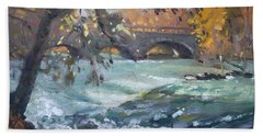 Late Afternoon By Niagara River Bath Towel