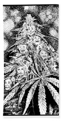 Laughing Grass Bw Hand Towel