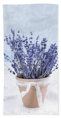 Lavender Hand Towel by Stephanie Frey