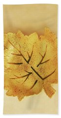 Leaf Plate2 Hand Towel by Itzhak Richter