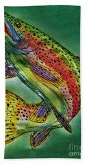 Leaping Trout Hand Towel