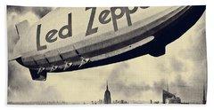 Led Zeppline - Vintage Art Hand Towel