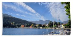 Bath Towel featuring the photograph Lenno.lake Como by Jennie Breeze