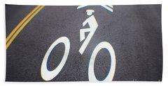 Life In The Bike Lane Bath Towel