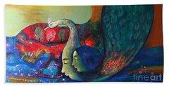 Life Bath Towel by Sanjay Punekar