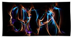 Light Grafitti Bath Towel