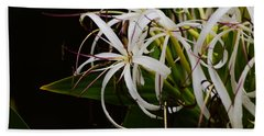 Lily Of The Nile Macro Bath Towel by Warren Thompson