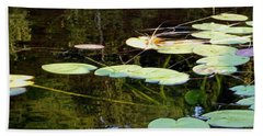 Lily Pads On The Lake Bath Towel