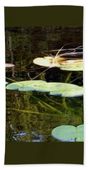 Lily Pads On The Lake Hand Towel