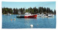 Lobster By Night - Sleep By Day, Camden, Maine Bath Towel