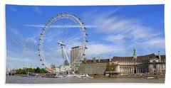 London Eye Hand Towel by Joana Kruse