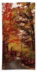 Long And Winding Road Hand Towel