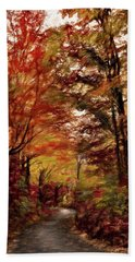 Long And Winding Road Bath Towel