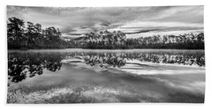 Long Pine Bw Bath Towel by Jon Glaser