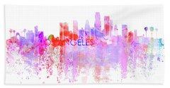 Love Los Angeles Hand Towel by J Biggadike
