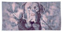 Love Of Dogs Bath Towel by Allen Beilschmidt