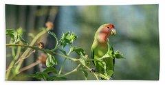 Lovely Little Lovebird  Hand Towel