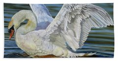 Hand Towel featuring the painting Lovely by Phyllis Beiser