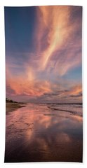 Hand Towel featuring the photograph Low Tide Mirror by Debra and Dave Vanderlaan