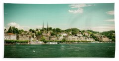 Bath Towel featuring the photograph Lucerne Panorama by Wolfgang Vogt