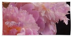 M Shades Of Pink Flowers Collection No. P66 Bath Towel