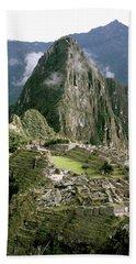 Machu Picchu At Sunrise Bath Towel