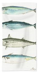Mackerel Fishes Hand Towel