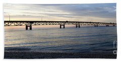 Mackinac Bridge Hand Towel by Tara Lynn