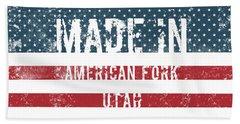 Made In American Fork, Utah Hand Towel
