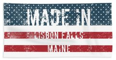 Made In Lisbon Falls, Maine Hand Towel