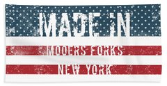 Made In Mooers Forks, New York Hand Towel