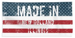 Made In New Holland, Illinois Hand Towel